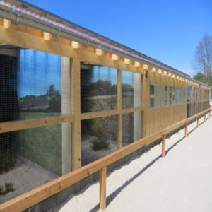 Die BJV-Niederwildstation im Rotwild- und Mufflongehege an der BJV-Landesjagdschule Standort Wunsiedel